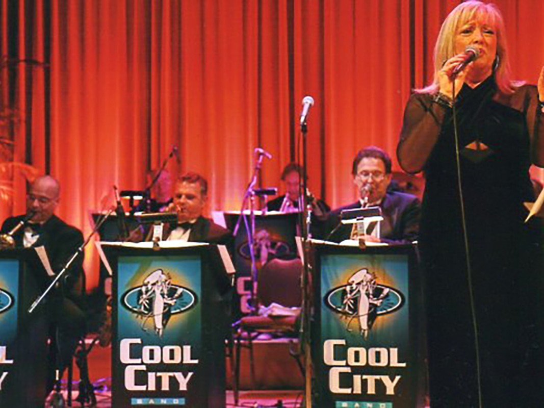 Live performance with the Cool City Band